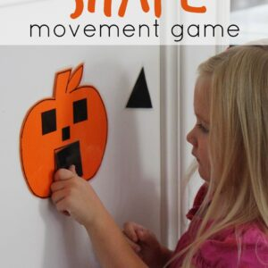 Pumpkin Shape Movement Game for Kids