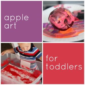 Apple Art for Toddlers