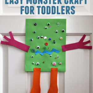 Easy Monster Craft for Toddlers