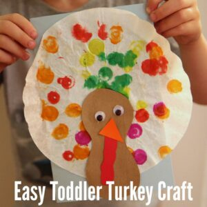 Easy Toddler Turkey Craft With Coffee Filters