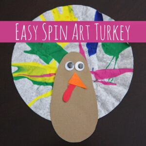 Easy Spin Art Turkey Craft