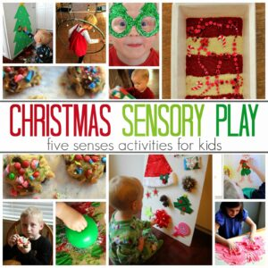5 Senses Christmas Sensory Play Activities for Kids