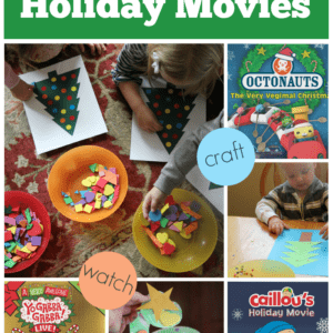 Toddler Approved Holiday Movies {Create, Watch & Play}