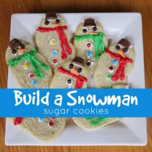 Build a Snowman Sugar Cookies for Kids