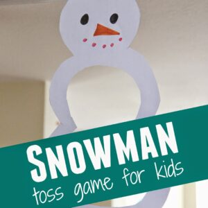 Snowman Toss Game for Kids