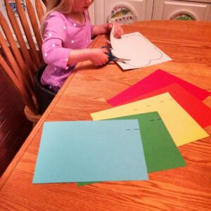 Easy Preschool Cutting Craft: Paper Rainbows