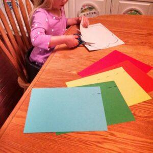 Easy Preschool Cutting Craft: Paper Rainbows