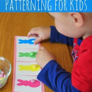 M&M Bunny Patterning Activity for Kids