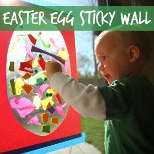 Sticky Easter Egg for Toddlers