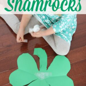 Easy Preschool Cutting Craft: Heart Shamrocks
