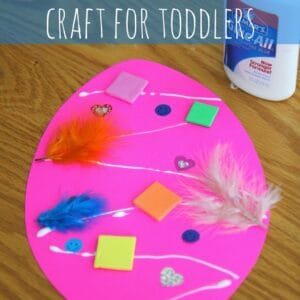 Easter Egg Collage Craft for Toddlers