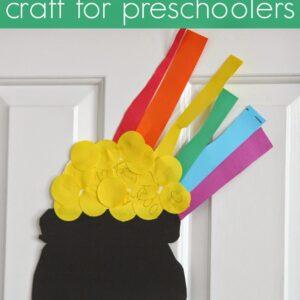Easy Preschool Cutting Craft: Pot o' Gold