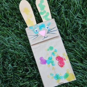 Colorful Easter Bunny Puppet Craft