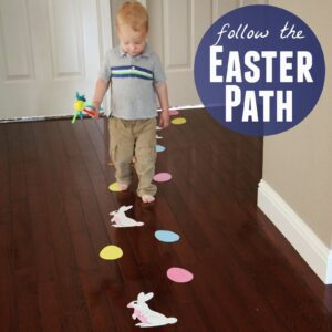 Follow the Easter Path Toddler Activity