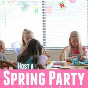 Spring Party for Preschoolers with Little Tikes