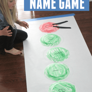 Very Hungry Caterpillar Paper Plate Name Game