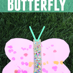 Simple Cardboard Butterfly Craft for Toddlers