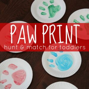 Paw Print Hunt & Match Game for Toddlers