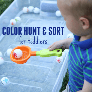 Color Hunt and Sort for Toddlers