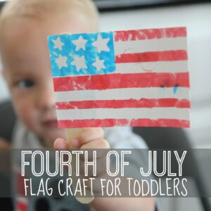 Fourth of July Flag Craft for Toddlers