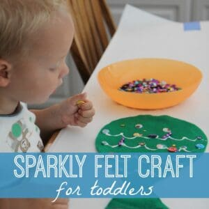 Sparkly Felt Fish Craft for Toddlers