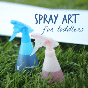 Spray Art for Toddlers