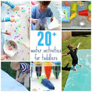 20+ Outdoor Water Activities for Toddlers