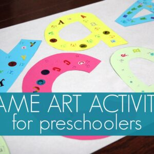 Name Art & Game for Preschoolers
