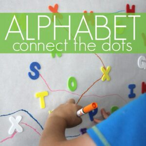 Giant Alphabet Sticker Connect the Dots Game