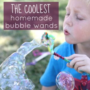Homemade Bubble Wands for Kids