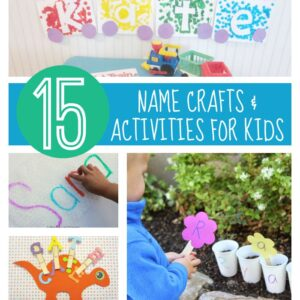 15 Name Crafts and Activities for Kids