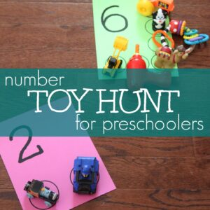 Number Toy Hunt for Preschoolers