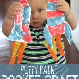 Puffy Paint Rocket Craft