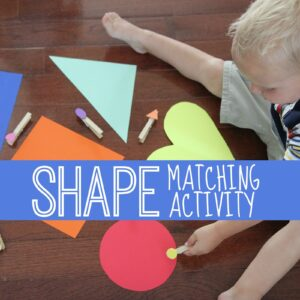 Shape Clothespin Matching Activity