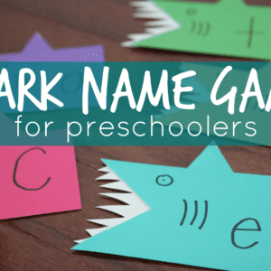 Shark Name Game for Preschoolers