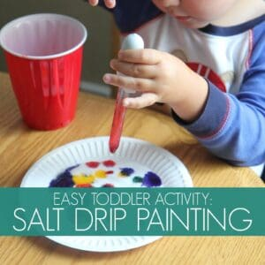 Color Play: Salt Drip Painting