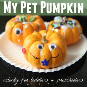 My Pet Pumpkin Activity