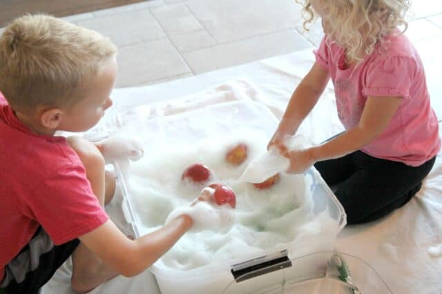 make some apple foam