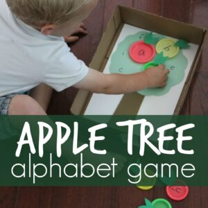 Apple Tree Lid Matching Alphabet Game
