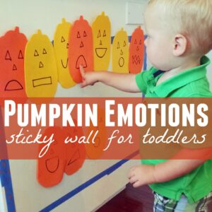 Pumpkin Emotions Sticky Wall