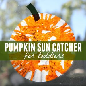 Easy Pumpkin Sun Catcher for Toddlers