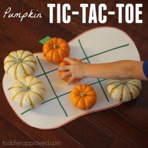 Pumpkin Tic Tac Toe for Kids