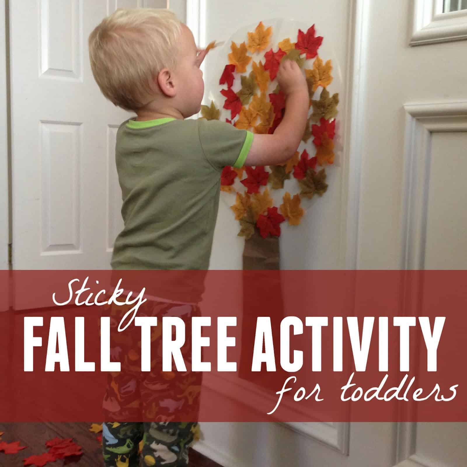 Easy Fall Tree Activity For Toddlers Toddler Approved