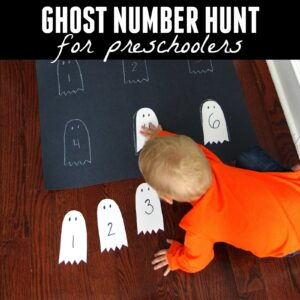 Ghost Number Hunt for Preschoolers