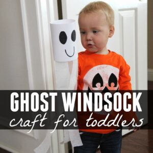 Mini Ghost Windsock Craft for Toddlers