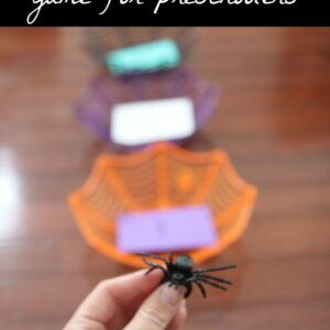 Spider Toss Game for Preschoolers