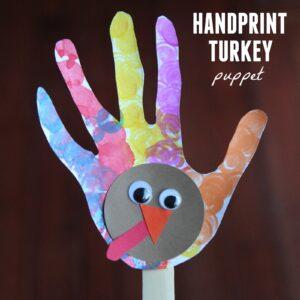 Handprint Turkey Puppet