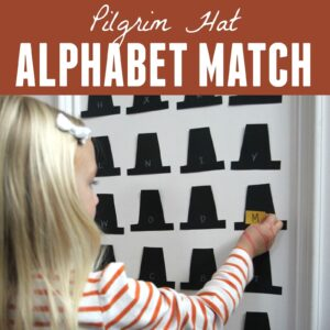 Pilgrim Hat Alphabet Match for Kids