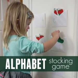 Alphabet Stocking Matching Game