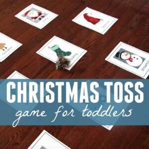 Christmas Toss Game for Toddlers
